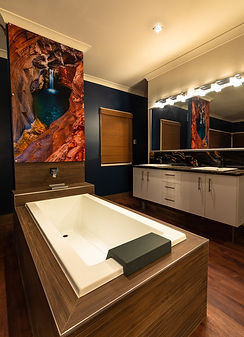 acrylic print, bathroom