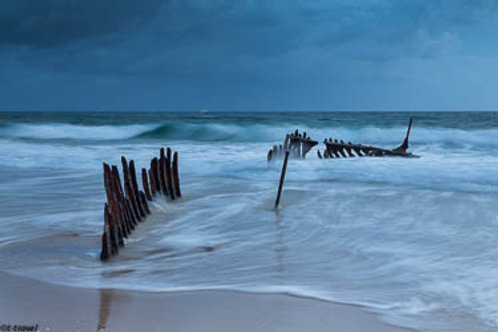 Shipwreck in the storm