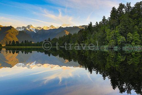 Lake Matheson - Sunset IV