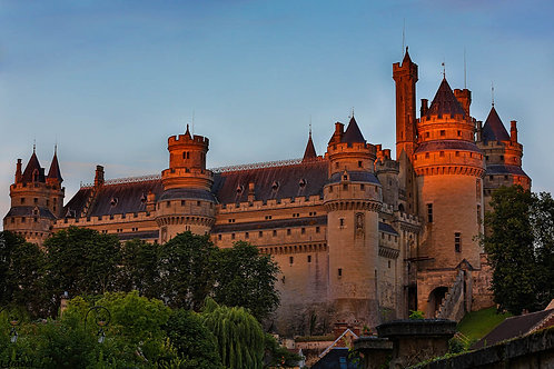 Sunset at Pierrefonds - France