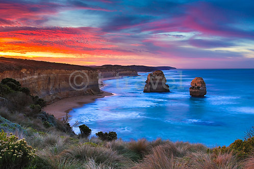 12 Apostles - Red Sunrise