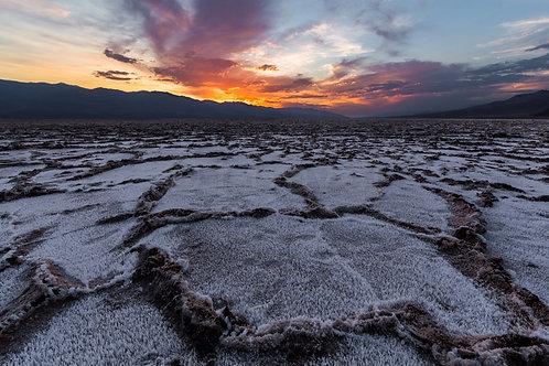 Sunset over Salt Fields VII (Death Valley)