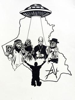 Alien Religion T-shirt