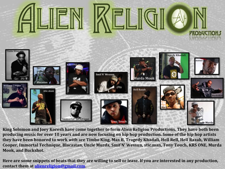 Alien Religion Collage