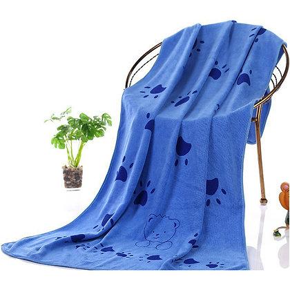 Microfiber Absorbent Dog Towel - Large - Blue