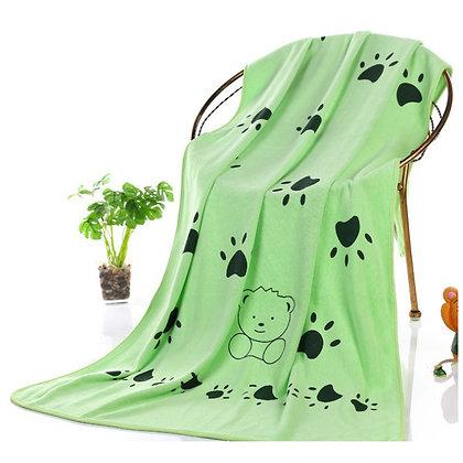 Microfiber Absorbent Dog Towel - Large - Green