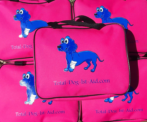 Total-Dog-1st-Aid Kit - PINK ~ 57 Items