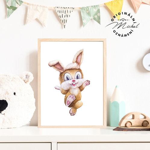 Plakát Veselý králíček
