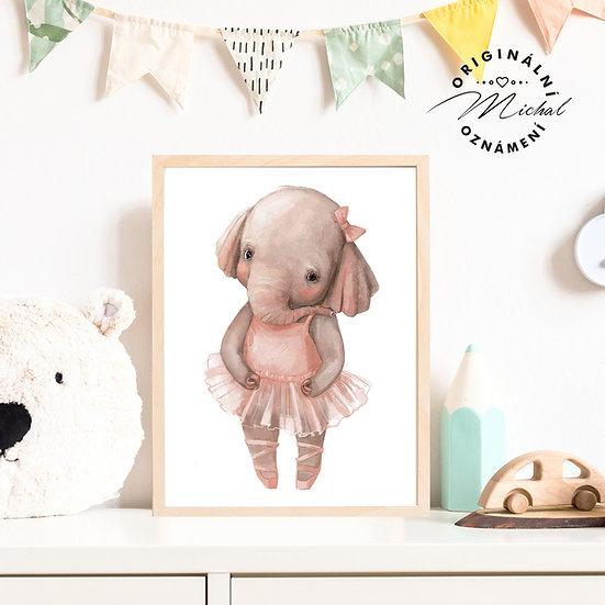 Plakát sloneček baletka