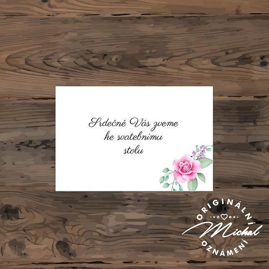 Pozvánka ke svatebnímu stolu - TYP 214