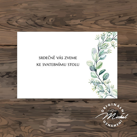 Pozvánka ke svatebnímu stolu - TYP 331