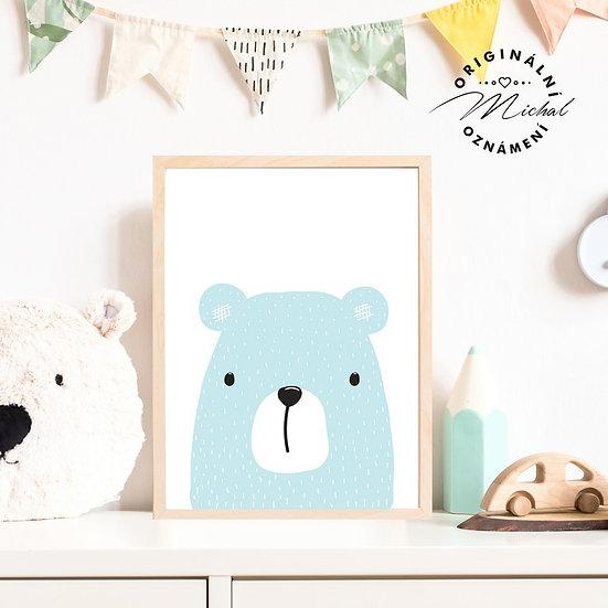 Plakát medvídek pro kluky a holky