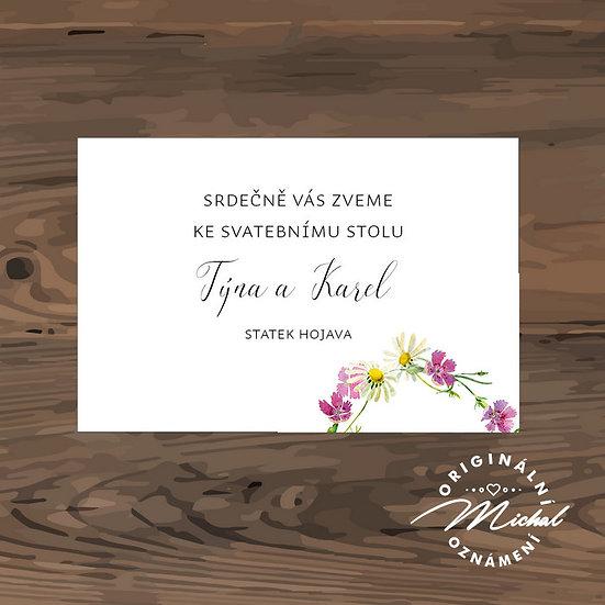 Pozvánka ke svatebnímu stolu - TYP 327