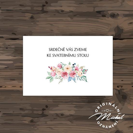 Pozvánka ke svatebnímu stolu - TYP 300