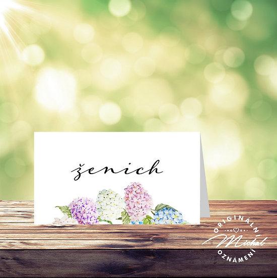 Svatební jmenovka, svatební jmenovky, zasedací pořádek