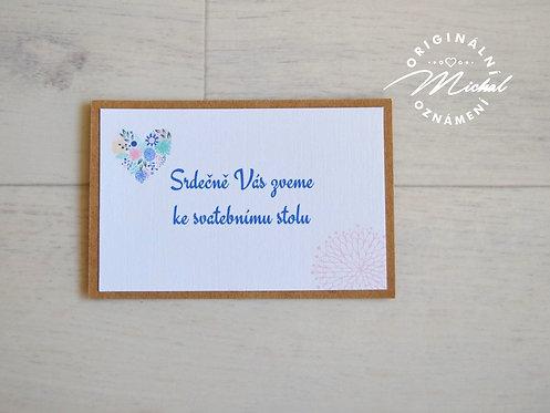 Pozvánka ke svatebnímu stolu - TYP 05