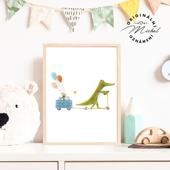 Plakát krokodýl dandy
