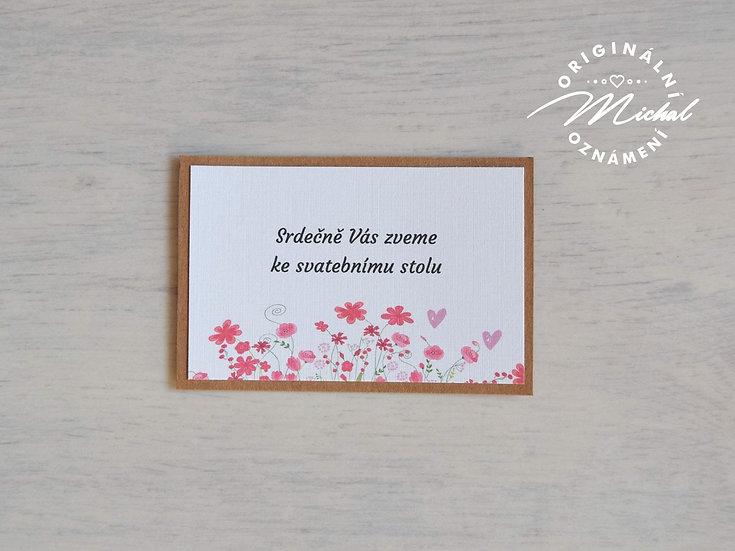 Pozvánka ke svatebnímu stolu - TYP 27