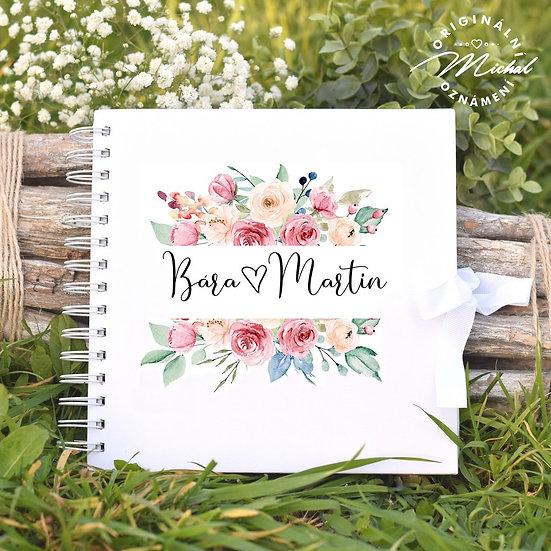 Svatební kniha hostů v pevných knižních deskách - 68