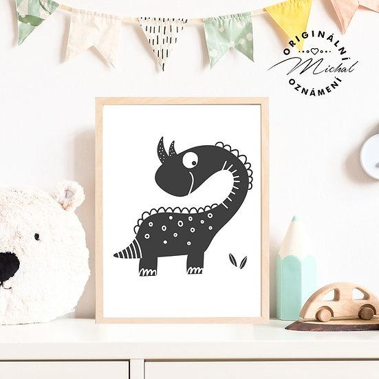 Plakát dinosaurus diník 5 pro kluky