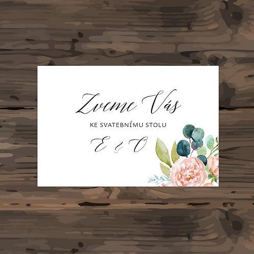 Pozvánka ke svatebnímu stolu - TYP 291