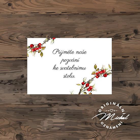Pozvánka ke svatebnímu stolu - TYP 212