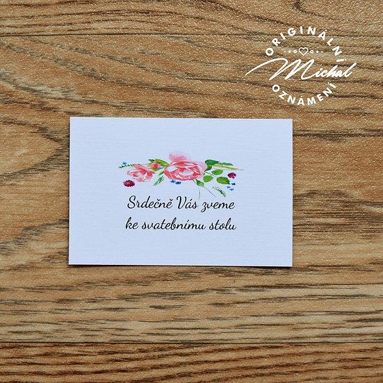Pozvánka ke svatebnímu stolu - TYP 32