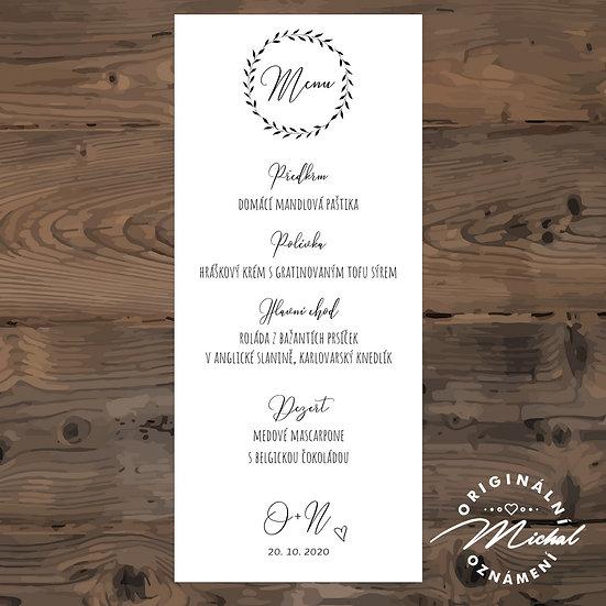 Svatební menu - TYP M03
