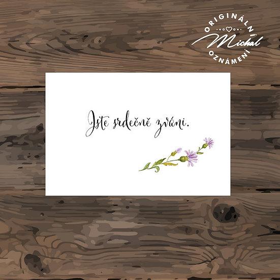 Pozvánka ke svatebnímu stolu - TYP 248