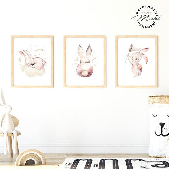 Plakát zajíčkové set roztomilý