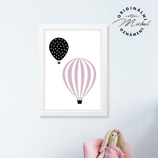 Balónky děvčátka – plakát