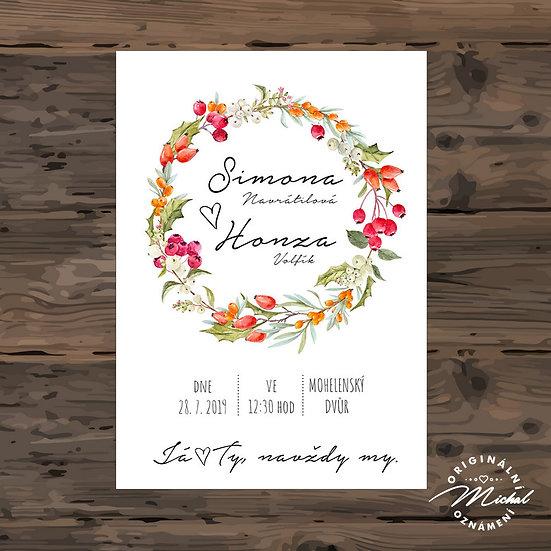 Svatební oznámení - TYP 297
