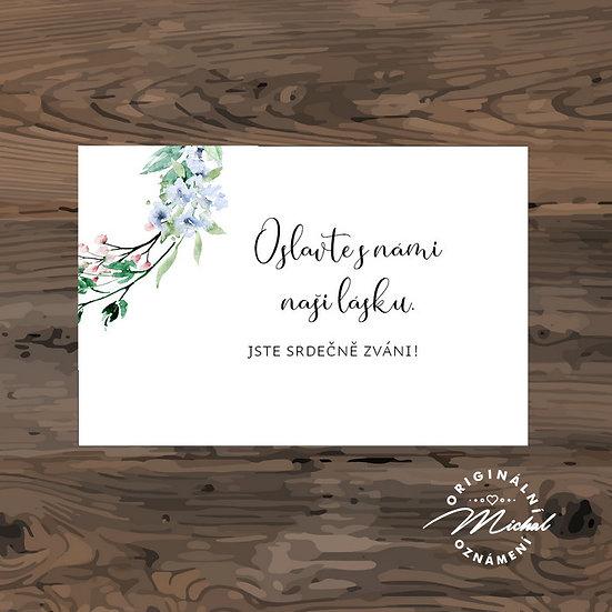Pozvánka ke svatebnímu stolu - TYP 329