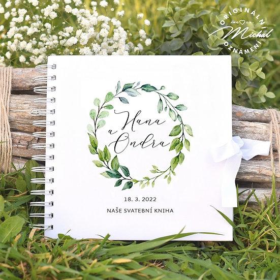 Svatební kniha hostů v pevných knižních deskách - 50