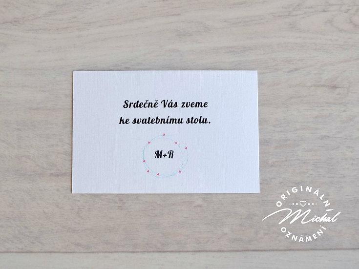 Pozvánka ke svatebnímu stolu - TYP 22