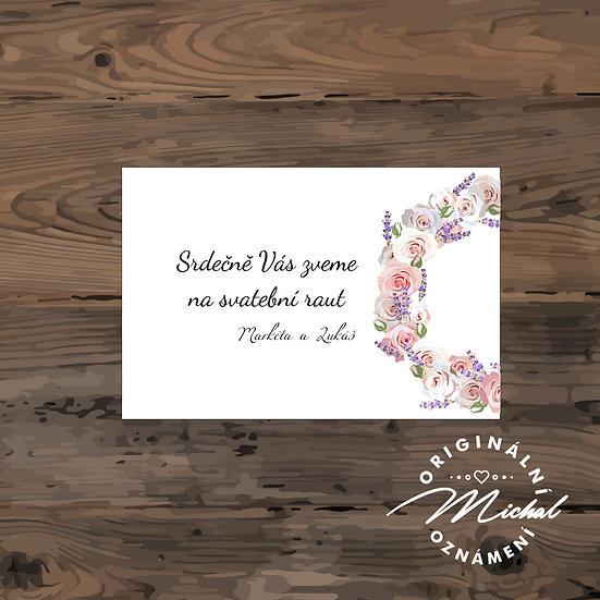 Pozvánka ke svatebnímu stolu - TYP 79