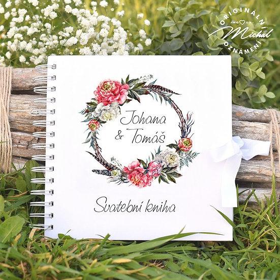 Svatební kniha hostů v pevných knižních deskách -32