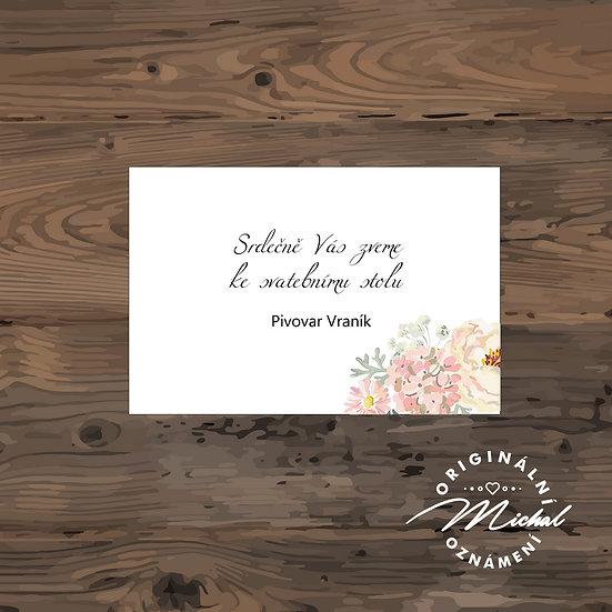 Pozvánka ke svatebnímu stolu - TYP 145