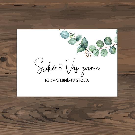 Pozvánka ke svatebnímu stolu - TYP 326