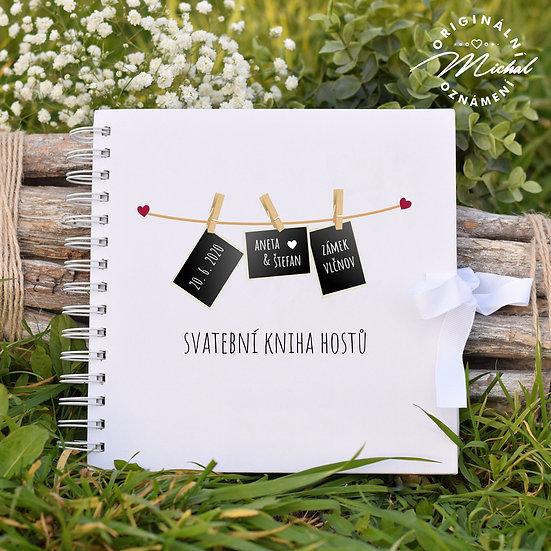 Svatební kniha hostů v pevných knižních deskách - 22