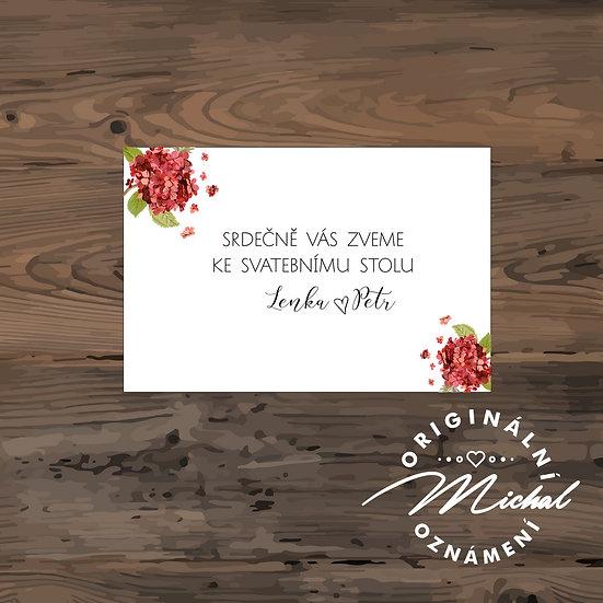 Pozvánka ke svatebnímu stolu - TYP 116