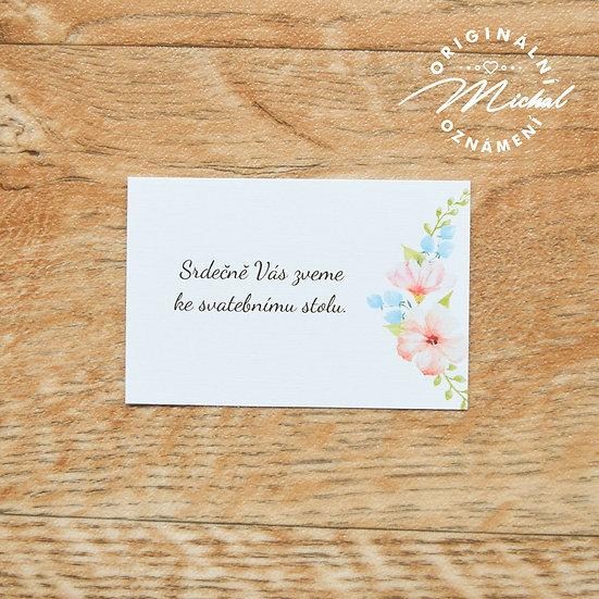 Pozvánka ke svatebnímu stolu - TYP 44