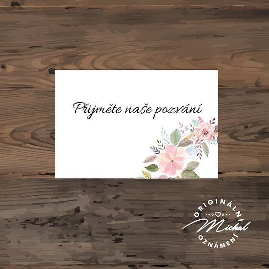Pozvánka ke svatebnímu stolu - TYP 283