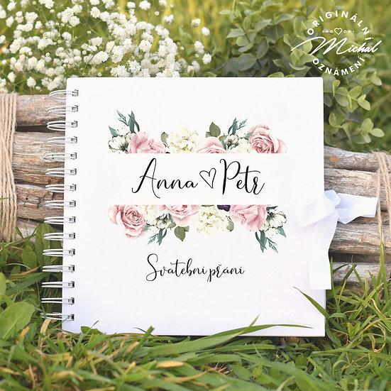 Svatební kniha hostů v pevných knižních deskách - 34