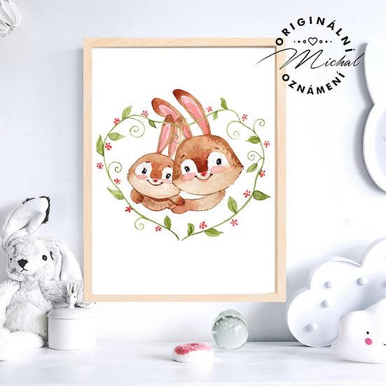 Plakát Zamilovaní králíčci