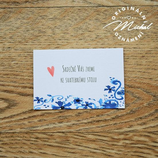 Pozvánka ke svatebnímu stolu - TYP 50