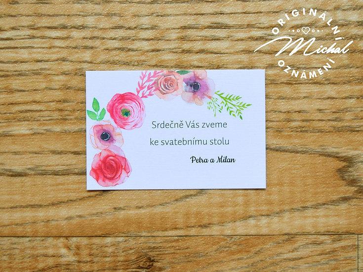 Pozvánka ke svatebnímu stolu - TYP 56