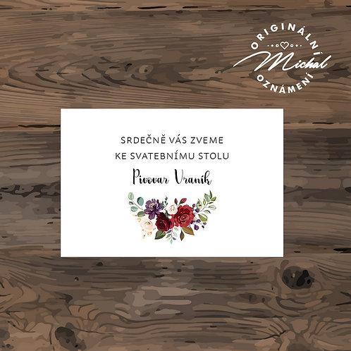 Pozvánka ke svatebnímu stolu - TYP 245