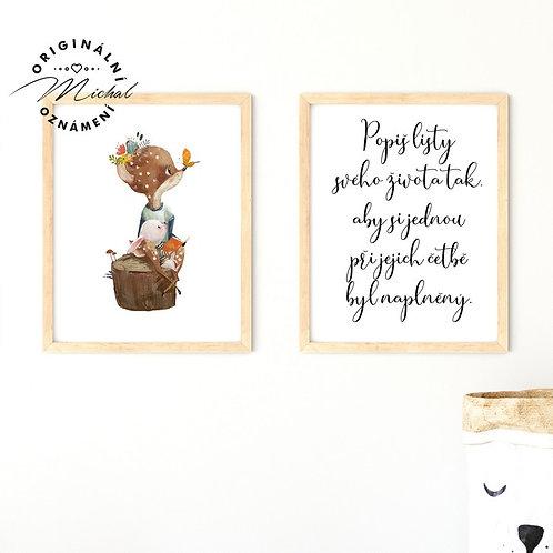 Plakát set a přáním do života