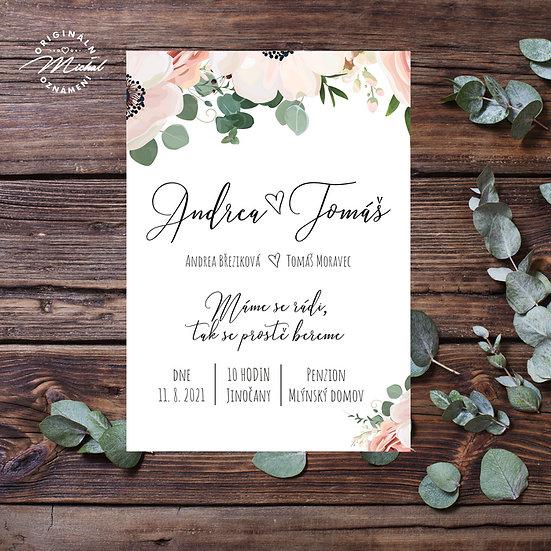 Svatební oznámení - TYP 306